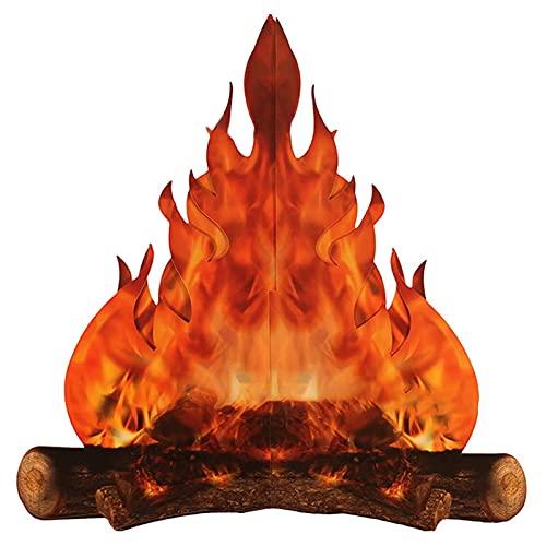 CUSROS El Fuego Artificial Es Fácil De Montar Mmodelado Creativo Decoración del Hogar Cartón Decorativo 3D Fuego De Campamento De Verano 3