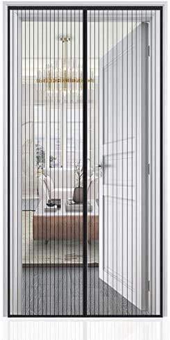 Auxmir Cortina Mosquitera Magnética para Puertas, 100x210cm, con Malla Super Fina para Dejar Pasar el Aire Fresco, Cierre Automaticamente Evita Paso de Insectos, Negro