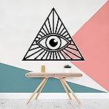 wZUN Estilo de Dibujos Animados Ojo triángulo decoración del hogar bebé niños decoración de la habitación Pegatinas Dormitorio Arte calcomanías 33X38 cm