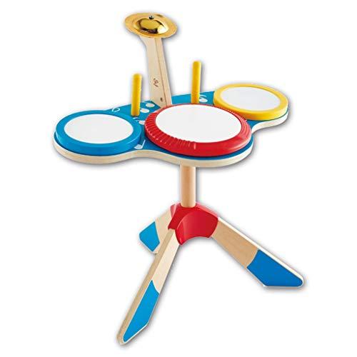 Musikinstrumente Schlagzeug & Schlagwerk Kindertrommeln Triple Motion-Trommeln Kindermusikspielzeug Beginners Schlagzeuger Jugend Setzt Holzspielzeug (Color : Blue, Size : 47 * 41.5 * 38CM)