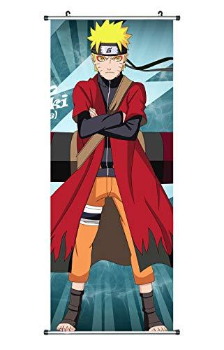 CoolChange Großes Naruto Rollbild / Kakemono aus Stoff Poster, 100x40cm, Motiv: Naruto Uzumaki