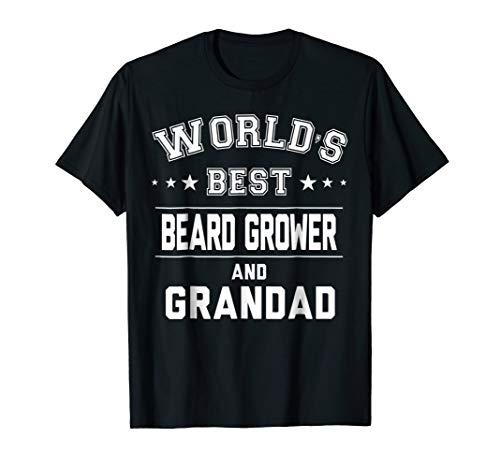 Worlds Best Beard Grower And Grandad T-Shirt | Gift CM