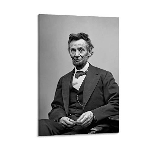 Póster de Abraham Lincoln, de la Guerra Civil Americana y arte de la pared, impresión moderna de la decoración del dormitorio familiar de 50 x 75 cm