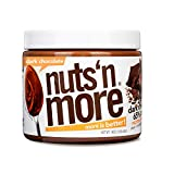 Nuts 'N More Dark Chocolate Peanut Butter Spread, All Natural High Protein Nut Butter Healthy Snack, Omega 3's and Antioxidants, Low Carb, Low Sugar, Gluten-Free, Non-GMO, no preservatives,16 oz Jar