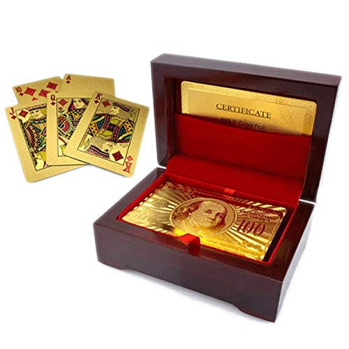 Luxurious 24K Gold Plated Playing Cards with Case - Make Your Magic Tricks More Luxurious