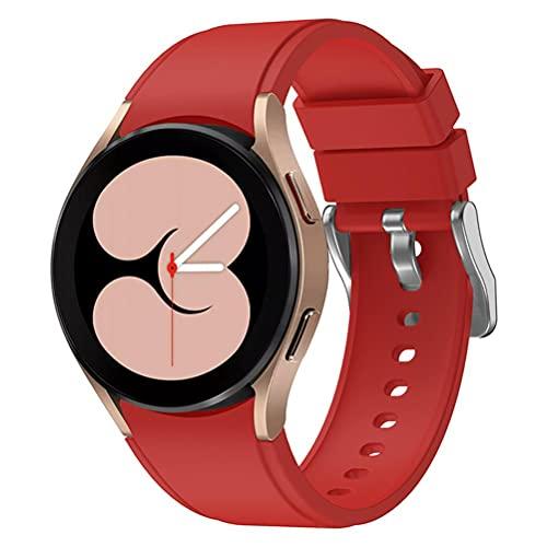 Tianbi Correa deportiva de silicona compatible con Samsung Galaxy Watch 4, correa de repuesto de silicona suave impermeable para Galaxy Watch 42 mm/46 mm