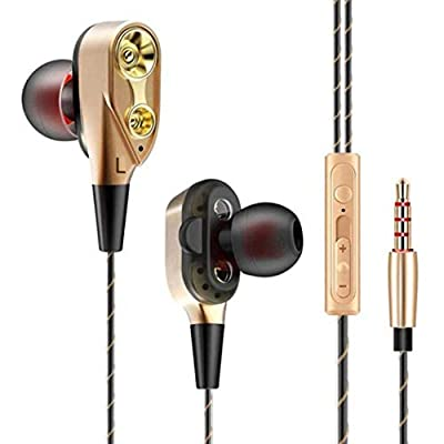 Dual Bass Speakers Earphones HiFi Headset Earbu...