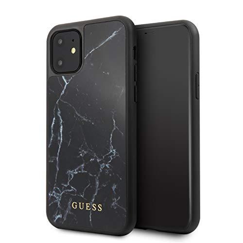 CG MOBILE Guess Marble Funda para iPhone 11 Protector Color Negro con Acabado Marmoleado Resistente a Impactos