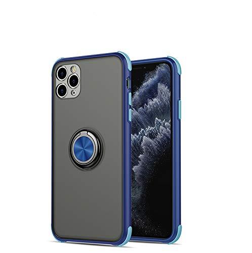 GOBY Coque iPhone 11 Slim Fit TPU Soft Support de Bague Silicone Gel Anti Mince Placage Bumper Housse Lustre Métal 360° Bague Support Téléphone Voiture Etui (6)