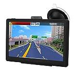 Navegación GPS, Monitor LCD de 7 Pulgadas con Reproductor de Audio y Video para automóvil, Dispositivo GPS para vehículos, Advertencia de tráfico de Voz con Montaje en Tablero