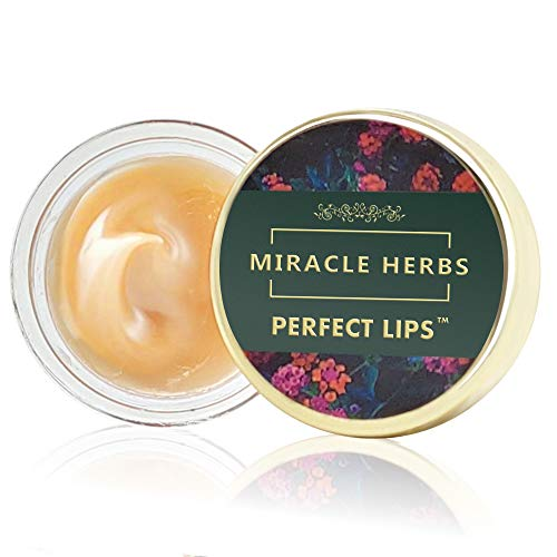 C.A.L. Los Angeles Miracle Herbs Lip Balm for Dark and Dry Lips to Lighten, Organic Overnight Moisturizer, Nourishing and Hydrating Lips - (8g)