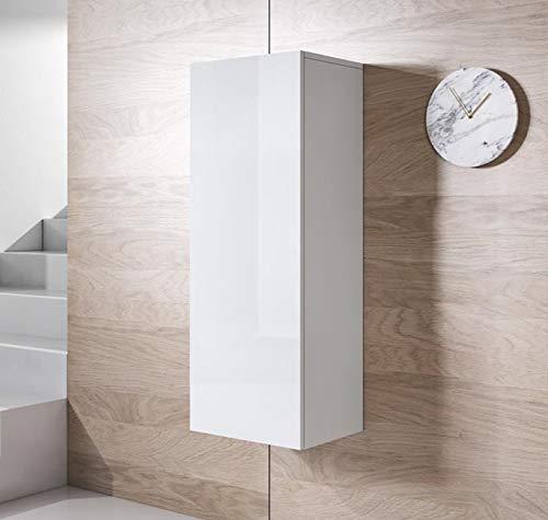 muebles bonitos Armario Colgante Modelo Luke V1 (40x126cm) Color Blanco