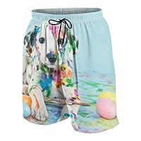 水着 メンズ おしゃれ サーフパンツ スタイリッシュな面白い小さなダルメシアンの子犬犬 海パン 人気 スイムパンツ 短パン ビーチパンツ サーフトランクス 水陸両用 旅行 速乾