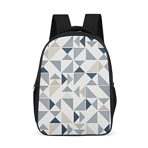 Mochila geométrica duradera mochila regalos para niños adolescentes estudiantes para camping casual