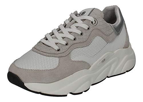 Hub Footwear Damen Sneakers Rock L66 White neutral Grey, Größe:39 EU