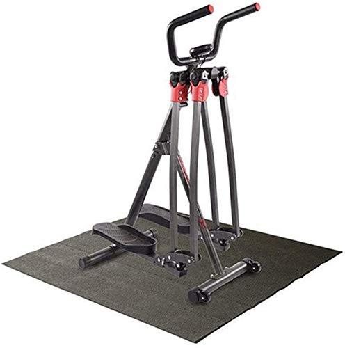 ZHTY Trittgerät Cardio-Trainingsgerät Verdrehte Scheibe mit Griff Einstellbare Indoor-Fitness-Treppe Stepper Übung Gesäß Beine Taille Bauch (Farbe: Schwarz, Größe: 53,5x73x121cm)