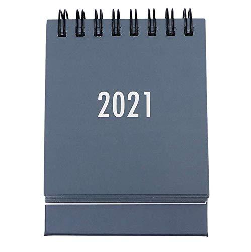 Popcornon Calendario de Escritorio de 2020 a 2021 Calendario Mensual Abatible de Escritorio Adecuado para la Escuela, la Oficina la Casa (Gris)