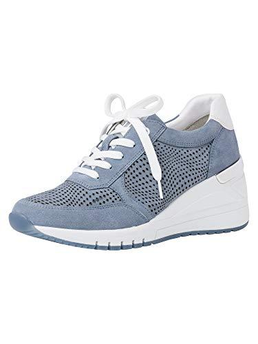 Marco Tozzi 2-2-23790-36 Leder Sneaker, Zapatillas Mujer, Denim Combi, 40 EU