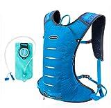 Phil Beauty Radfahren Rucksack Outdoor-Schulter-Wasser-Beutel-Rucksack senden Helm Net Mountain Bike Bag REIT Outfit 3L,Blau