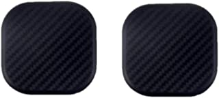 TRUE LINE Automotive Black Square Carbon Fiber Cup Holder Insert Interior Car Tray Anti Slip Pad