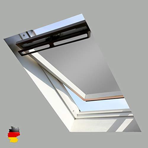 Sonnenschutz für Dachfenster | Perfekt für Velux und Roto Fenster | 100% Verdunkelung | Sonnen und UV Schutz | GGU, GPU, GHU, GTU, GXU, GGL, GPL, GHL, GTL, GXL (Hellgrau, 60x93)