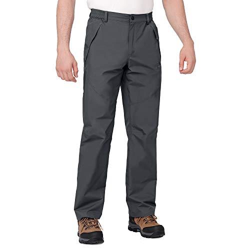 CAMEL CROWN Pantalones de senderismo para hombre, impermeables, cortavientos, de tejido softshell,...