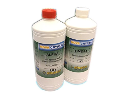 Nova Crystal chlorfreie Wasserpflege Promotion-Set 2 x 1 l (Preis je l / 36,00 EUR)