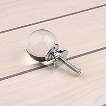 Bureze 10 stks 30 mm K9 Kristal Glas+zinklegering zwart ronde bal deurgrepen kast kast kast kast lade meubilair hardware