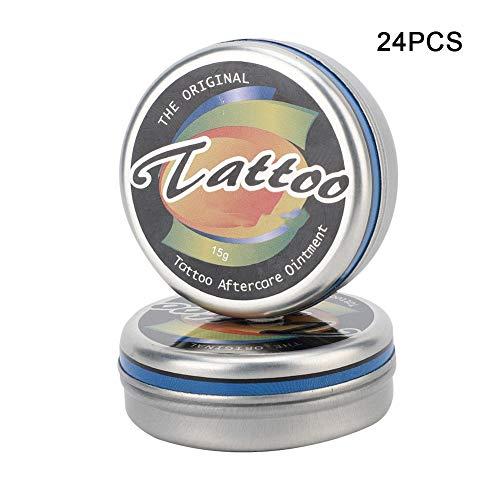 24pcs Crema del Tatuaje, Crema para el Cuidado de Tatuajes Crema Anti Cicatrizante Hidratante para Tatuajes, Anti-cicatriz, para Reparación de Tatuajes, Maquillaje Piercing, Ceja Permanente