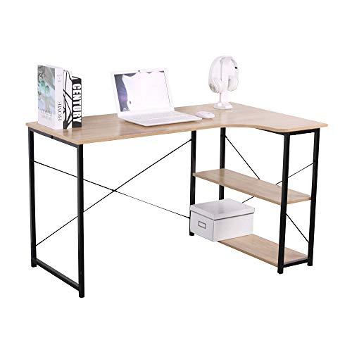 HTI-Line Eckschreibtisch Mona Winkelschreibtisch Computertisch Arbeitstisch platzsparender Bürotisch
