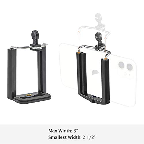 LimoStudio 2PC Monopod Tripod Mount Clip Cell Phone Holder for iPhone 6 5S 5C 5 4S 4 Samsung Galaxy S4 S3, AGG1462