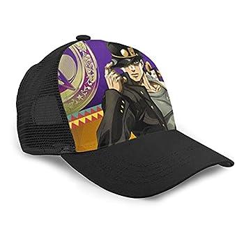 JoJo s Bizarre Adventure Baseball Caps Unisex Kujo Jotaro Anime Trucker Hats Adjustable Mesh Dad Hat Gifts for Men s and Women s Black