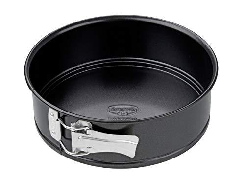 Dr. Oetker Springform Ø 20 cm, Backform mit Flachboden, runde Kuchenform aus Stahl mit Antihaftbeschichtung (Farbe: schwarz), Menge: 1 Stück