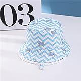 Sombrero para niños Gorra con Estampado de Verano para niños y niñas Gorros para el Sol para niños Sombreros para bebés de Dibujos Animados de 6 Meses a 8 años-Blue wave-2-50cm 1-3 Years