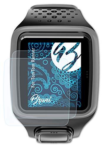 Bruni Schutzfolie kompatibel mit Tomtom Runner Folie, glasklare Bildschirmschutzfolie (2X)