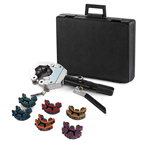 Hihone Hydraulic Hose Crimper, 71550 A/C Hose Crimper Tool Kit Air Conditioning Hose Portable Hose Fittings Handheld Crimping