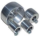 (AL5-19) Set di rotelle per smerigliatrice a nastro CNC per smerigliatrici a lama da 130 mm, albero da 19 mm, binario da 75 mm, puleggia folle da 50 mm…