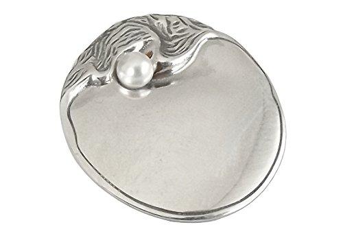 Jugendstil Damen Brosche Anhaenger in 925 Silber poliert
