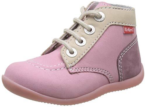 Kickers Jungen Unisex Kinder Bonbon-2 Stiefel, Pink (Rose Tricolore 132), 23 EU