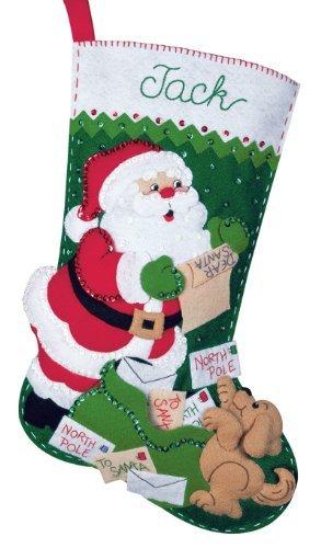 Bucilla Felt Applique Christmas Stocking Kit: Letters to Santa
