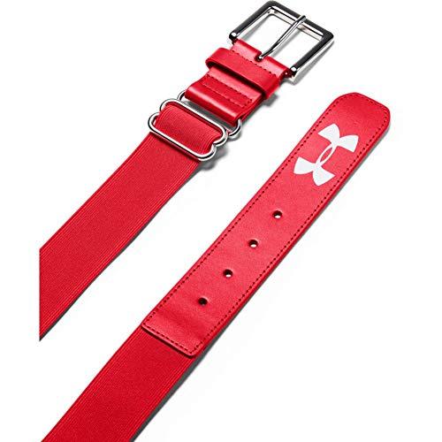Under Armour - Cinturón de béisbol para hombre - 1252084, Talla única, Rojo/Rojo