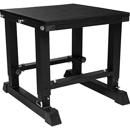 GORILLA SPORTS® Plyobox Stahl 5-Fach verstellbar – Jump-Box Schwarz bis 300 kg belastbar