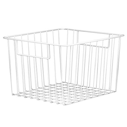 Paquete de 2 cestas de almacenamiento de malla | Contenedores de alambre organizador | Estantes de alambre multiusos | Dormitorio, cocina o baño | M&W