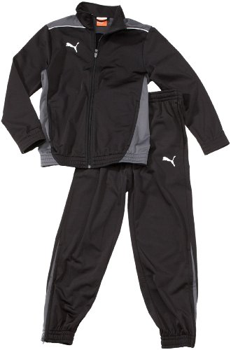 PUMA Kinder Trainingsanzug Foundation Poly Suit II Präsentationsanzug, Black/Dark Shadow, 152
