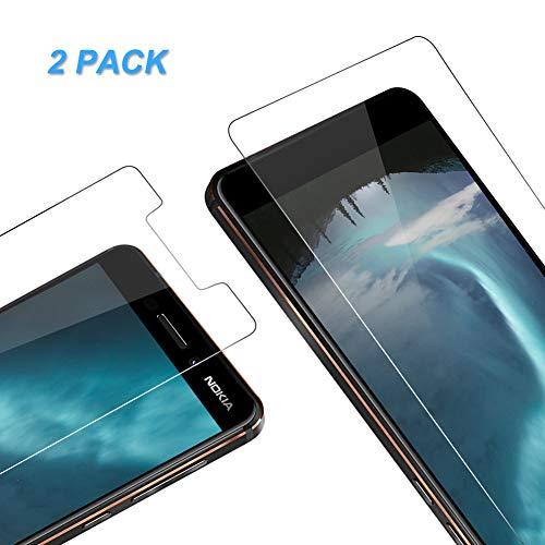 Vkaiy Panzerglas Schutzfolie kompatibel mit Nokia 6.1 2018, Ultra-Klar Glas 9H Festigkeit 3D Touch Kompatibel Anti-Kratzen, Anti-Öl, Anti-Bläschen für Nokia 6.1 2018, 2 Stück