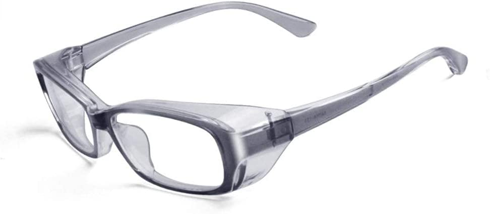 MOZHANG Llan Polen Gafas Gafas Gafas Gafas Gafas heno Fiebre Gafas Nublado Detener el Virus, bacterias Salpicaduras de Polen Gafas UV Corte Transparente Gafas de Sol se Colgan Desde la Parte Superior