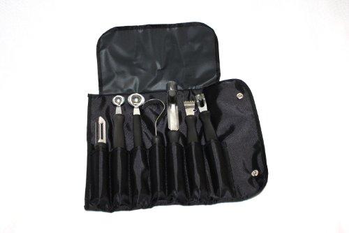 Garnierwerkzeug - Set 8 teilig inkl. Rolltasche