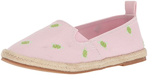 Polo Ralph Lauren Kids Girls' BEAKON Slipper, Light Pink w/Turtles, 5.5 Medium US Big Kid