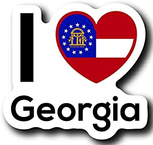 Love Georgia State Decal Sticker Home Pride Travel Car Truck Van Bumper Window Laptop Cup Wall - One 5 Inch Decal - MKS0010