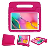 ProCase Kids Case for Galaxy Tab A 8.0 2019 T290 T295, Shockproof Convertible Handle Stand Cover Light Weight Kids Friendly Protective Case for 8.0 Inch Galaxy Tab A 2019 Without S Pen Model -Magenta